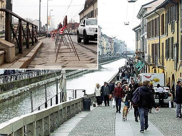 Milano cedimenti e crolli sulle sponde fragili del for Il naviglio grande ristorante