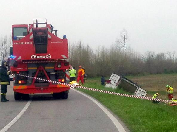 Incidente tra Trigolo e Soresina due morti e sei feriti