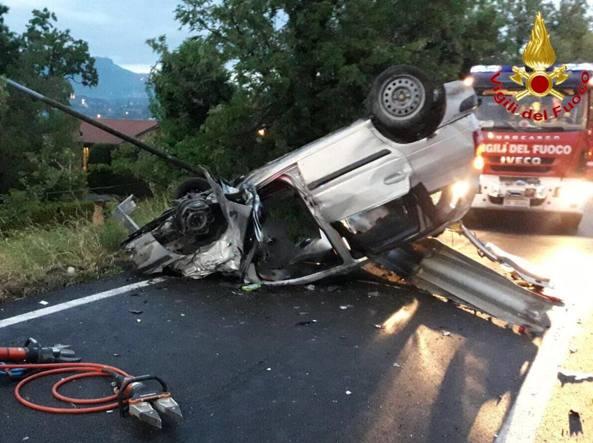 Incidente sul raccordo autostradale Gazzada-Varese - SS 707: morti due quarantenni