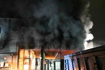 Risultati immagini per maxi-incendio in ditta profumi
