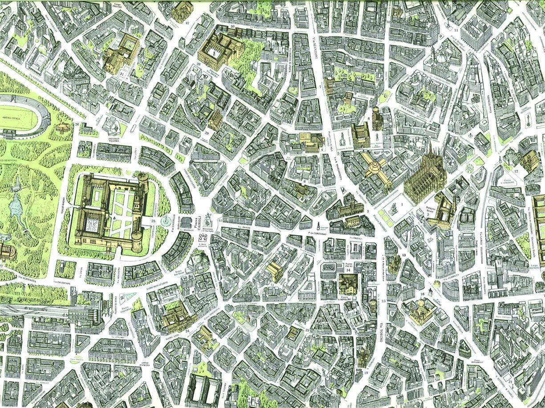 Cartina Milano 800.Milano Expo La Citta E Il Sito Dall Alto Nella Mappa Di