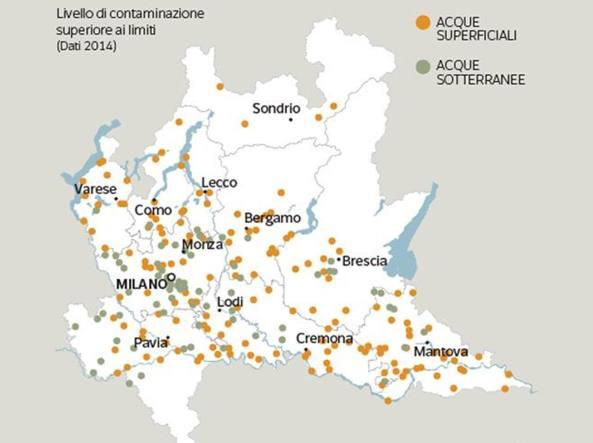 Cartina Lombardia Con Tutti I Comuni.Lombardia I Pesticidi Che Avvelenenano L Acqua Contaminati 193 Comuni Lombardi Corriere It