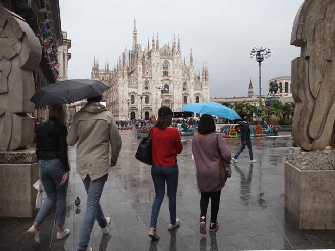 Pioggia e  freddo in Lombardia Torna l'autunno al Nord Meteo