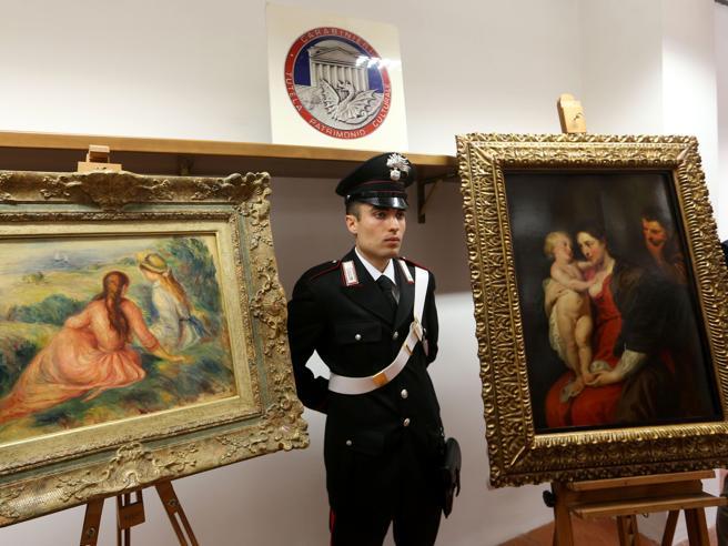 Monza, recuperati i quadri di Rubens e Renoir rubati da 26 milioni  Foto