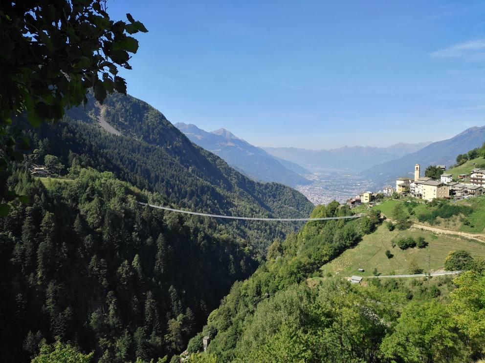 Италия Достроен самый высокий подвесной мост в Европе ponte4 MGZOOM