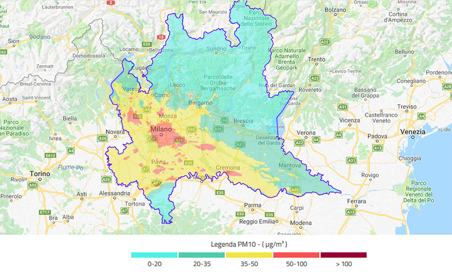 Cartina Inquinamento Lombardia.Inquinamento In Lombardia La Mappa Corriere It