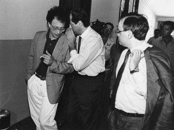 Colombo, Di Pietro e Davigo durante l'inchiesta «Mani Pulite»