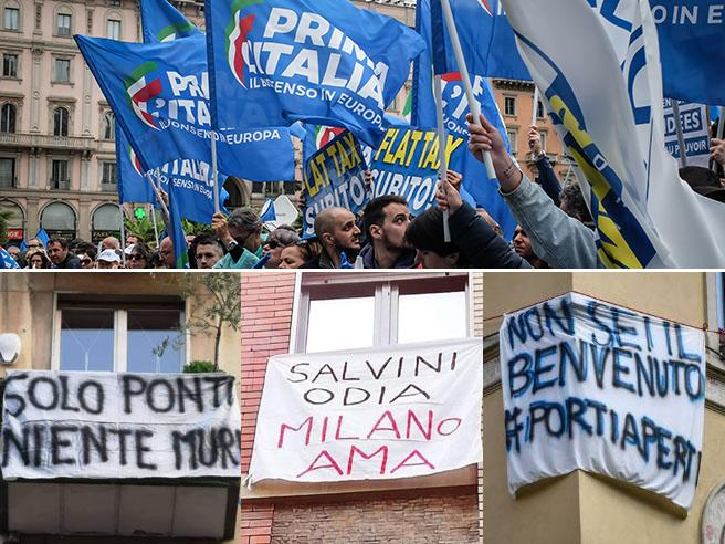 Salvini-day, piazza Duomo blindata Live Sala: