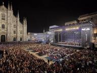 Ventimila persone in piazza Duomo al «Concerto per Milano»