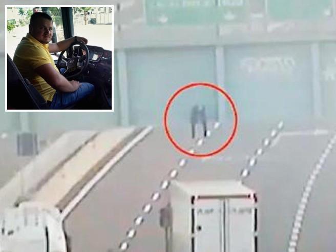Il camionista e il ragazzo sul cavalcavia: «Non sono un eroe»