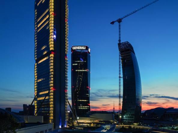 Le «Tre Torri» di Citylife (foto Alberto Fanelli)