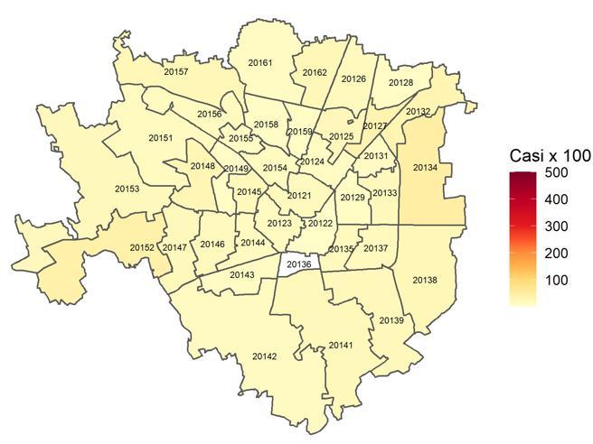Crolla l'incidenza dei contagia Milano,  Bocconi è il primo quartiere con 0 casi in una settimana:  i dati per ogni Cap