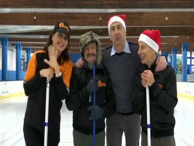 Sala, Giovanni e Giacomo,  Geppi Cucciari e «l'improbabile» gara di curling