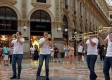 Le trombe del Quartetto di Brescia invadono la Galleria