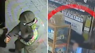 L'assalto dei due rapinatori al bar di Cardano al Campo