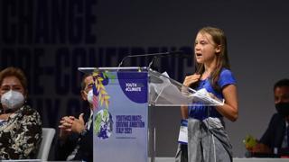 Greta Thunberg a Milano: «Le politiche sul clima tutte bla, bla, bla»
