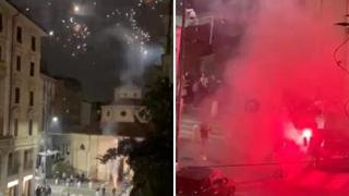 Via Lecco, gli eccessi della movida: fuochi d'artificio tra le case