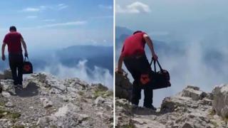 L'alpinista incosciente: a duemila metri sulla Grigna in scarpe da tennis