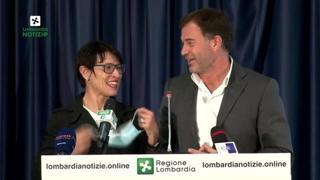 Di Centa e Rossi, la sfida (scherzosa) degli olimpionici sul palco della Regione